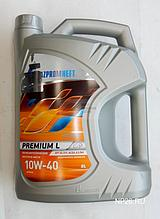 Полусинтетическое масло Газпром Premium L 10W-40 канистра 5 л.
