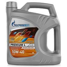 Полусинтетическое масло Газпром Premium L 10W-40 канистра 4 л.