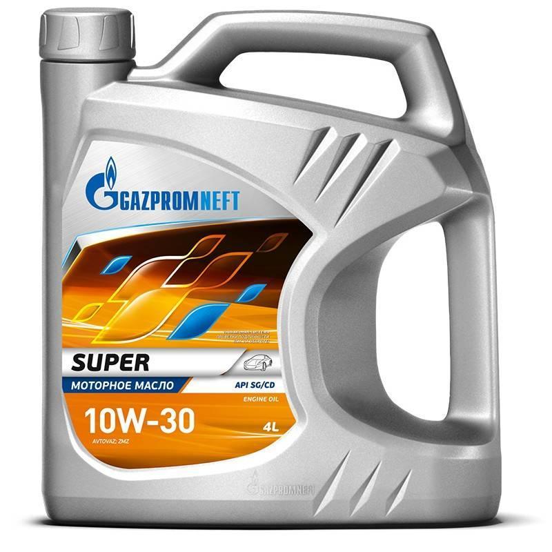 Масло моторное Газпром Super 10W-30 полусинтетическое канистра 4л.