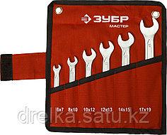 Набор рожковых гаечных ключей 6 шт, 6 - 19 мм, ЗУБР