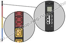 Контролируемый блок розеток Tesla Power серии BASIC, 36 розеток C13, 9 розеток C19, вход IEC60309 16A(3P+N+E)