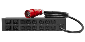 Управляемый блок розеток Tesla Power серии PRO 16 розеток, 3 фазный