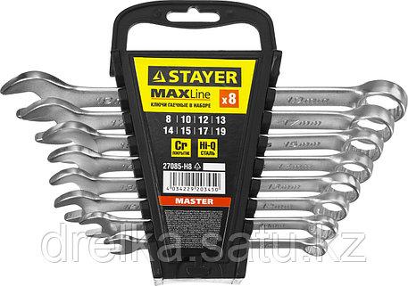 Набор комбинированных гаечных ключей 8 шт, 8 - 19 мм, STAYER, фото 2