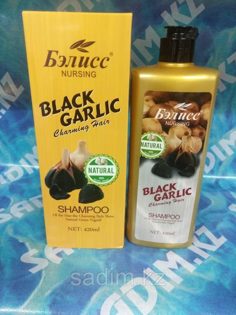 Бэлисс Nursing Black Garlic - Шампунь с экстрактом черничного чеснока против выпадения волос