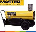 Жидкотопливные нагреватели MASTER с отводом отработанных газов (помещения должны проветриваться)