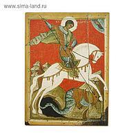 Икона освящённая Георгий Победоносец (на коне Красный фон) 95х140