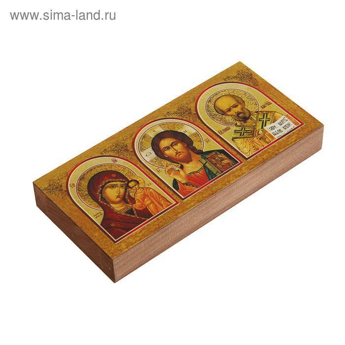 Икона освящённая ТРИПТИХ 80х180 - фото 2