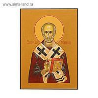 Икона освящённая свт. Николай поясной (на желтом фоне) 140х190