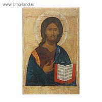 Икона освящённая Христос Пантократор (открытое Евангелие) 70х90