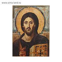 Икона освящённая Христос Пантократор (Синайский) - 70х90 мм