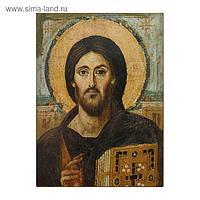 Икона освящённая на дереве ЛАК Христос Пантократор (Синай) (ЛАК) 95х140