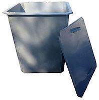 Мусорный контейнер 750 л с крышкой (НДС 12% в т.ч.), фото 1
