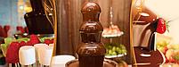 Фонтан шоколадный Chocolat Fondue 40 см. Большой 3 яруса., фото 4