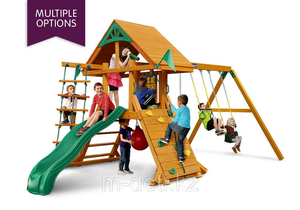 Детская площадка  Ласточка с крышей из дерева