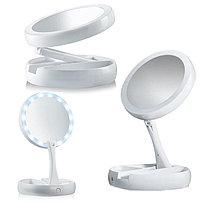 Зеркало с подсветкой и увеличением My Fold Away Mirror, фото 4
