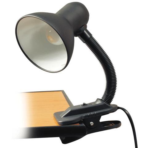 Лампа настольная с прищепкой