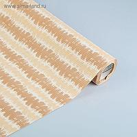 "Бумага упаковочная крафт ""Береста"", бело-бежево-коричневый, 0.5 х 10 м"