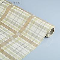 """Бумага упаковочная крафт """"Гленчек"""", серый-белый-золотой, 0.5 х 10 м"""