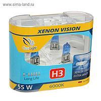 Галогенная лампа Clearlight XenonVision, H3, 12 В, 55 Вт, набор 2 шт