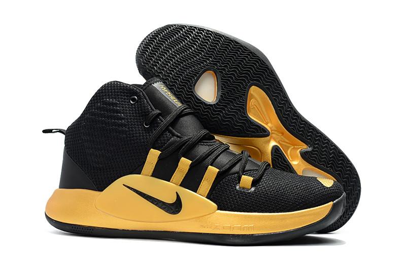 "Кроссовки Nike Hyperdunk X (2018) ""Black/Gold"" (36-46)"