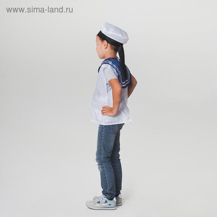 """Детский карнавальный костюм """"Моряк"""", жилет, бескозырка, 4-6 лет, рост 110-122 см - фото 2"""