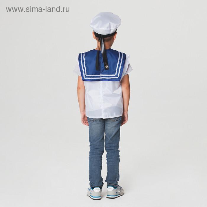 """Детский карнавальный костюм """"Моряк"""", жилет, бескозырка, 4-6 лет, рост 110-122 см - фото 3"""