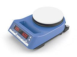 Магнитная мешалка с подогревом, enamel plate RH digital-white