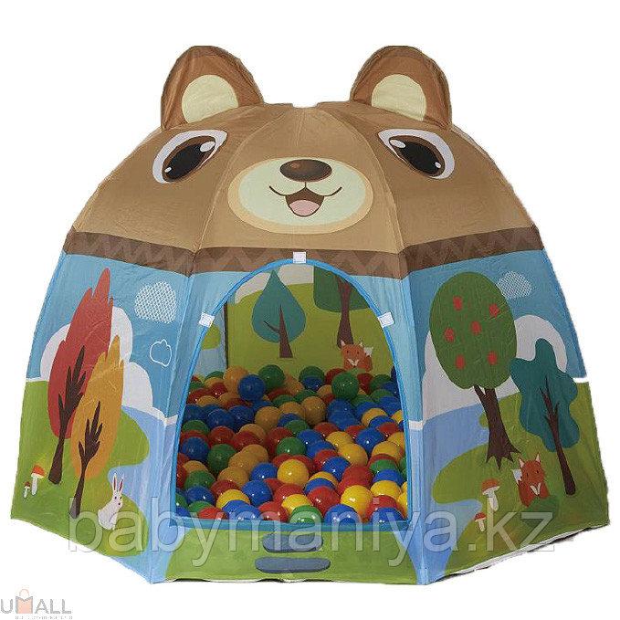 Детский домик + 100 шаров Calida Мишка