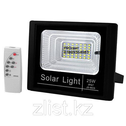 Прожектор (25 Вт) с солнечной батареей датчиком света и пультом управления