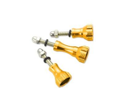 Комплект алюминиевых болтов золотого цвета (2 коротких, 1 длинный)
