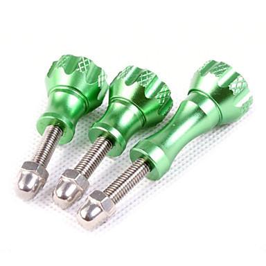 Комплект алюминиевых болтов зеленого цвета (2 коротких, 1 длинный)