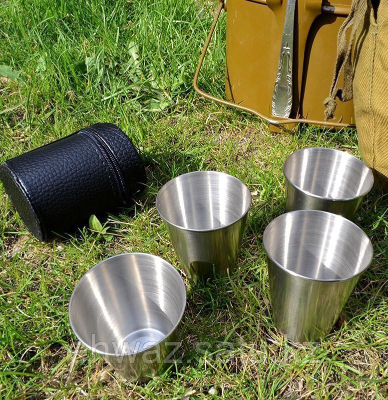 Рюмки в чехле для пикника