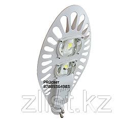 Консольный уличный светодиодный светильник СКУ 100 w белый корпус. Уличный фонарь LED Кобра
