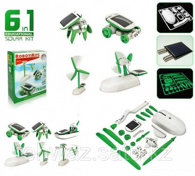 Конструктор робот-трансформер на солнечной батарее 6 в 1