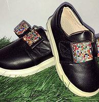 Туфли для девочки банты стразы размеры 21-26