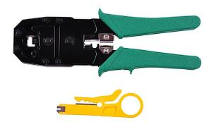 Инструмент обжимной (Кримпер 3 в 1) для коннекторов  8P8C(RJ-45), 6P6C(RJ телефонной трубки, линии, витой пары