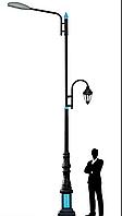 Опоры освещения декоративные от 6 до 9 метров