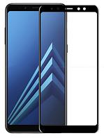 Противоударное защитное 3D стекло на Samsung Galaxy A6 2018 (черный), фото 1