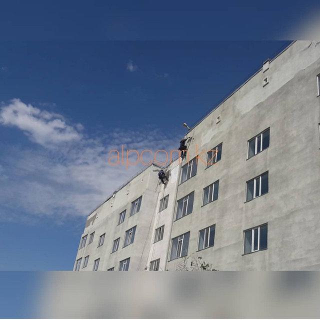 Покраска фасада общежития КазГЮУ / 2018 год 12