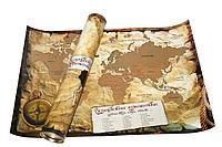 Карта мира А2 со стираемым слоем