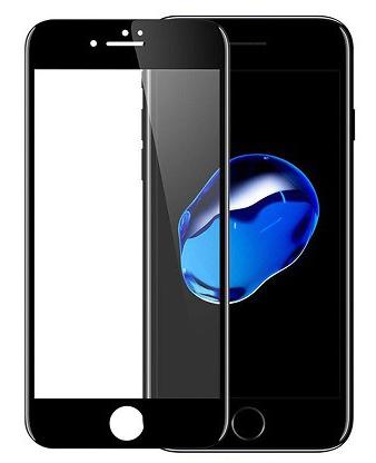 Противоударное защитное 3D стекло на Iphone 7 Plus (чёрное)