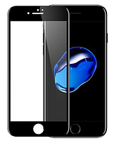 Противоударное защитное 3D стекло на Iphone 7 Plus (чёрное), фото 1