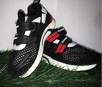 Кроссовки подростковые черные Supreme размеры 30-36