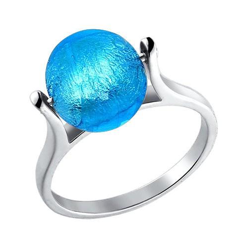 Кольцо с муранским стеклом / 17,5 размер