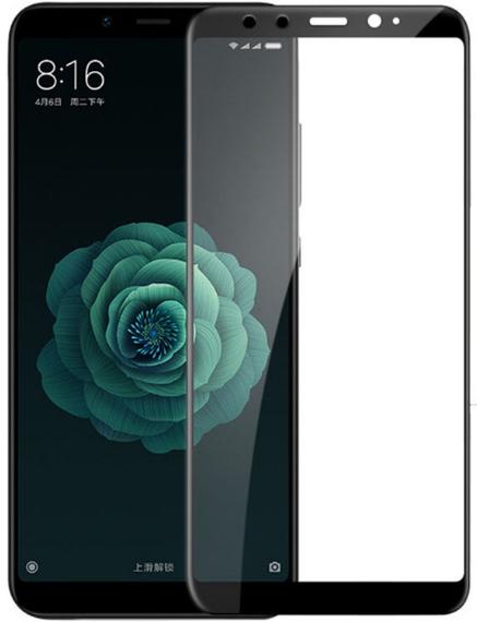 Противоударное защитное 3D стекло на Xiaomi Redmi 6X (черный)