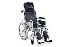 Коляска для инвалидов модель FS609-46 (4453) со стульчаком ширина сиденья 46см