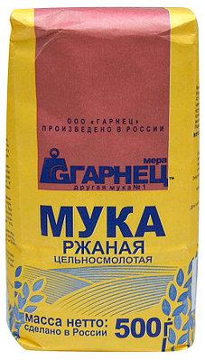 """Мука """"Гарнец"""" ржаная цельносмолотая 500 гр"""