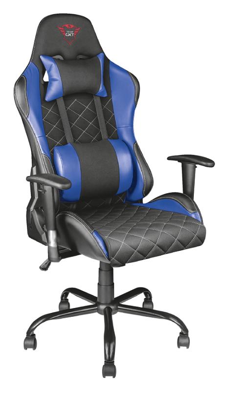 Игровое кресло Trust GXT 707B Resto синий/красный/серый