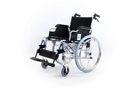 Коляска для инвалидов модель FS908L-46 (4661) алюминиевая, ширина сиденья 46см