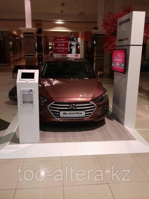 Рекламный подиум для автомобиля в Алматы